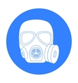 Army gas mask icon in black style isolated on vector image vector image
