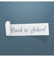Back to School curved festive Banner vector image vector image