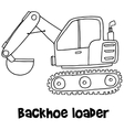 Backhoe loader with hand draw