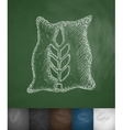 Bag of grain icon vector image