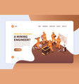 become miner website page vector image