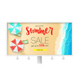 billboard with sales action summer offer get up vector image vector image