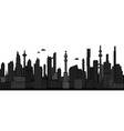 black and white cyberpunk cityscape vector image