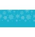 Blue lace snowflakes textile horizontal border vector image vector image