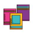 books school supplies vector image vector image