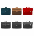 Briefcases set with shadows coloful and