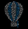 bright mesh carcass aerostat balloon with light vector image vector image