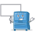 bring board mailbox character cartoon style vector image vector image