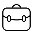business bags icon with outline style vector image