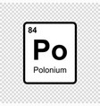 chemical element polonium vector image vector image