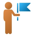 Child Commander Gradient Icon vector image vector image