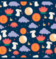 Chinese mid autumn festival seamless pattern