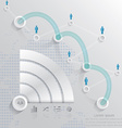 communication connecting infographics vector image