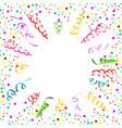 confetti serpentine white background vector image