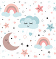 cute sky seamless pattern ba design vector image vector image