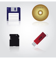 data storage media types eps10 vector image vector image