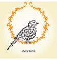 decorative sparrow vector image