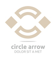 design square brown rhombus arch symbol icon vector image vector image