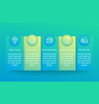 digital marketing infographics with line icons vector image