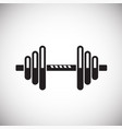dumbbell icon on white background for graphic and vector image vector image