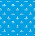 easel artist pattern seamless blue vector image vector image