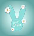 easter background with bunny shaped cutout and vector image vector image