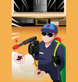 exterminator man vector image vector image
