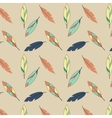 Feather pattern in yellow and blue tones vector image vector image
