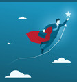 fly high to goal flat businessman flying to vector image vector image