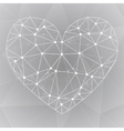 Geometric shapes heartTemplate for Valentines Day vector image vector image