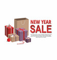 gift boxes and shopping bags on white vector image vector image