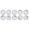 globe grid spheres striped 3d spheres geometry vector image