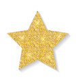 gold glitter star icon isolated on white vector image