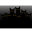 group of cats in the dark vector image vector image