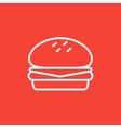Hamburger line icon vector image vector image