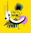 hello summer bright poster vector image vector image