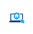 house insurance online order icon on white vector image vector image