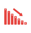 icon concept of finance sales bar graph moving vector image