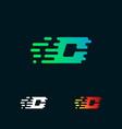 letter c modern speed shapes logo design vector image vector image