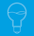 light bulb with blue water inside icon outline vector image vector image