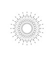 linear drawing of rays of the sun in vintage style vector image vector image