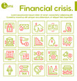 linear icon financial crisis economy vector image vector image