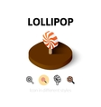 Lollipot icon in different style vector image vector image