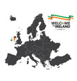 map of europe with the state of ireland vector image vector image