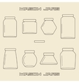 Mason jars linear icon set vector image vector image