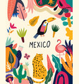 mexico poster vector image