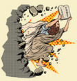 moses with tablets of the covenant 10 commandments vector image