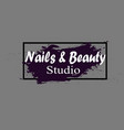 nail studio logo vector image