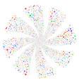 narcotic drugs fireworks swirl flower vector image vector image