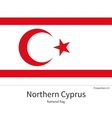 National flag of Northern Cyprus with correct vector image